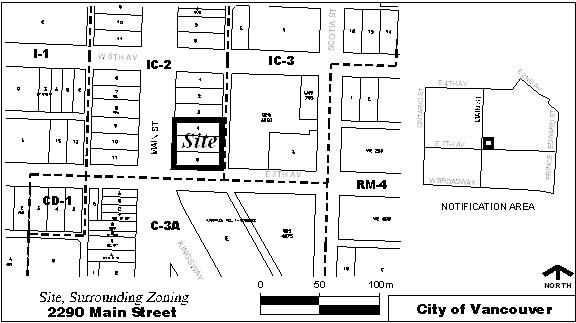 Rezoning Application, 2290 Main St, Site Map