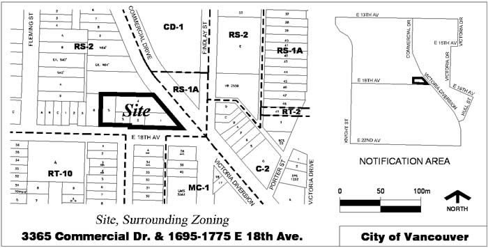 Rezoning Application, 3365 Commercial Drive And 1695-1775