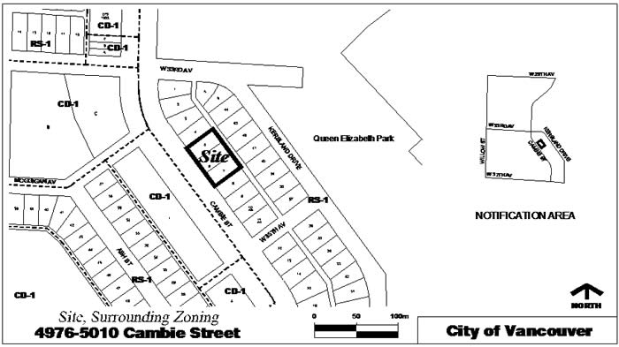 Rezoning Application, 4976-5010 Cambie Street