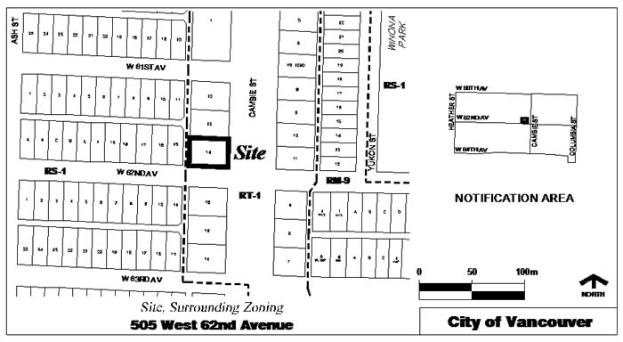 Rezoning Application, 505 West 62nd Avenue